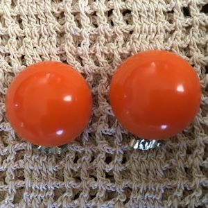 Orange Bakelite Earrings
